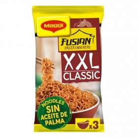Pasta oriental Fusian Classic al toque de ajo XXL Maggi 185 g.