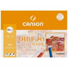 Minipack  10 Hojas A3 Liso Basik Canson