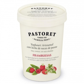 Yogur de frambuesa Pastoret 500 g.