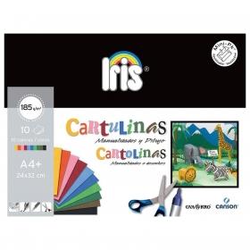 Minipack  A4 10 Hojas Cartulinas de Colores Canson