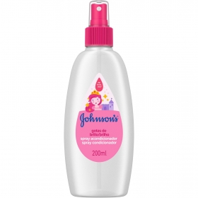 Acondicionador spray Gotas de brillo Johnson's 200 ml.
