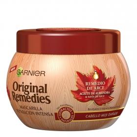 Mascarilla capilar reparación intensiva remedio de savia de arce para cabello dañado Original Remedies 300 ml.