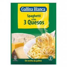 Spaghetti a los 3 quesos Gallina Blanca 170 g.