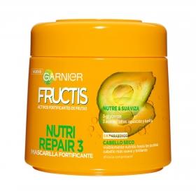 Mascarilla capilar Nutri Repair 3 para cabello seco Garnier Fructis 300 ml.