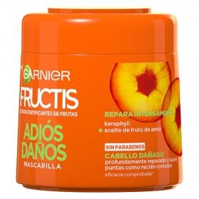 Mascarilla capilar Adiós Daños para cabello dañado Garnier Fructis 300 ml.