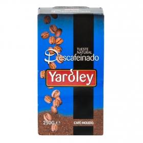 Café molido natural descafeinado Yaroley 250 g.