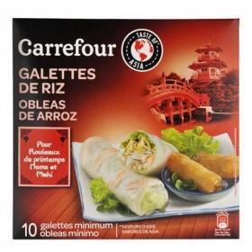 Obleas de arroz para rollitos Carrefour 100 g.
