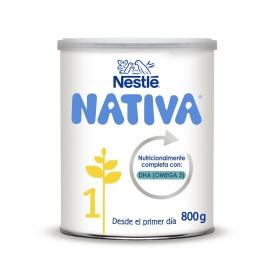 Leche infantil para lactantes desde el primer día en polvo Nestlé Nativa Proexcel 1 lata 800 g.