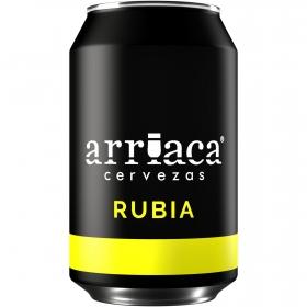 Cerveza artesana Arriaca rubia lata 33 cl.