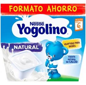 Yogur natural desde 6 meses Nestlé Yogolino sin gluten pack de 8 unidades de 100 g.