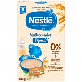 Papilla infantil desde 6 meses multicereales integrales sin azúcar añadido Nestlé pijama sin aceite de palma 500 g.