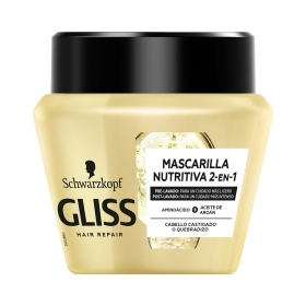 Mascarilla capilar Reestructurante Ultimate oil Elixir para cabello castigado Gliss 300 ml.