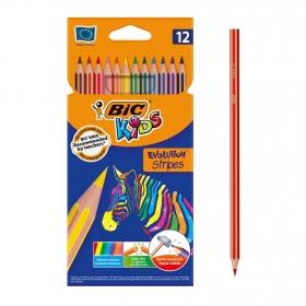 Lápices de colores BIC Kids Evolution Stripes colores surtidos 12 uds