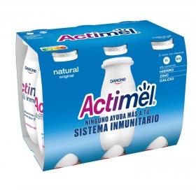 Yogur L.Casei líquido natural Danone Actimel pack de 6 unidades de 100 g.
