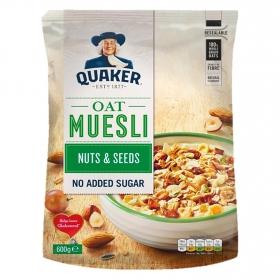 Cereales sin azúcar oat muesli con frutos secos y semillas Quaker 600 g.