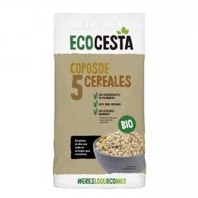 Copos de cinco cereales sin azúcares añadidos ecológicos Ecocesta 500 g.