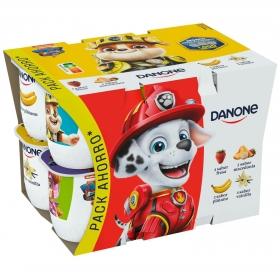 Yogur de sabores Danone pack de 12 unidades de 125 g.