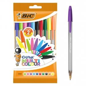 Bolígrafo Cristal Multicolor Bic 10 uds