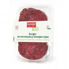 Burguer de remolacha y lentejas rojas ecológico Germinal sin gluten 140 g.