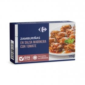 Zamburiñas en salsa marinera con tomate Carrefour sin gluten 65 g.
