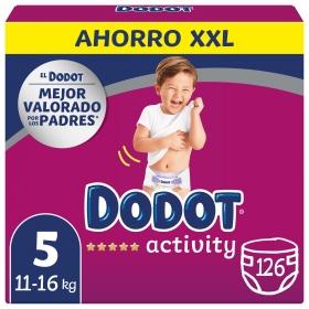 Pañales Dodot Activity box XXL T5 (11kg-16kg.) 126 ud.