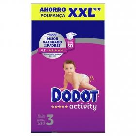 Pañales Dodor Activity XXL Talla 3 (6-10 kg) 168 ud.