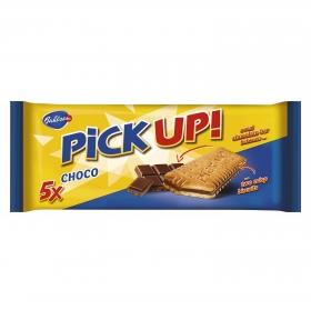 Galletas rellenas de chocolate Pick Up Bahlsen pack de 5 unidades de 28 g.
