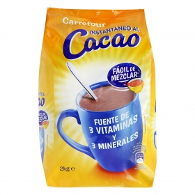 Cacao soluble instantáneo Carrefour 2 kg.