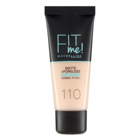 Maquillaje Fit Me Matte + Poreless nº 110 Maybelline 1 ud.