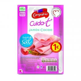 Jamón cocido extrajugoso Campofrío Cuida-t + sin gluten y sin lactosa 75 g.