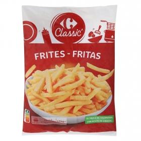 Patatas fritas clásicas congeladas Carrefour 2,5 kg.