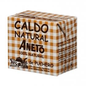 Caldo natural de puchero Aneto sin gluten y sin lactosa 500 ml.