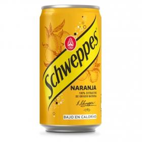 Refresco de naranja Schweppes con gas lata 25 cl.