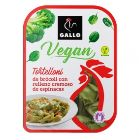 Tortellini de brócoli con relleno cremoso de espinacas Gallo sin lactosa 250 g.