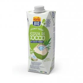 Agua de coco verde ecológica Isola Bio brik 50 cl.