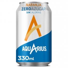 Bebida Isotónica Aquarius zero sabor naranja lata 33 cl.