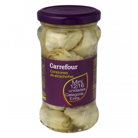 Corazones de alcachofas mini 12/16 Carrefour 165 g.