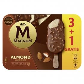 Bombón helado de vainilla y almendras Magnum pack de 4 unidades de 82 g.
