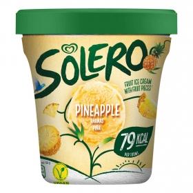 Helado vegano de piña con trozos Solero 330 g.