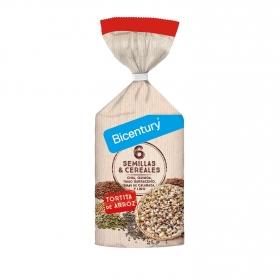 Tortitas de arroz 6 semillas y cereales Bicentury 112 g.