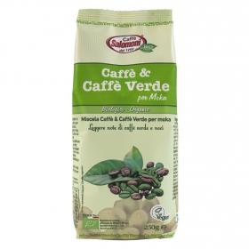 Café molido mezcla verde ecológico Salomoni 250 g.