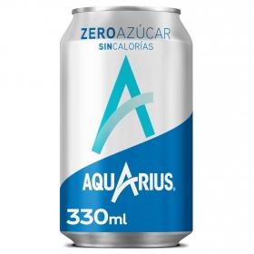Bebida Isotónica Aquarius zero sabor limón lata 33 cl.