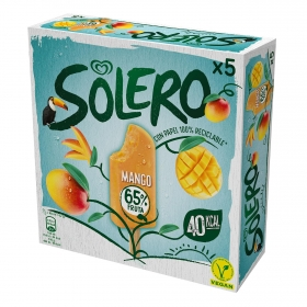 Helado vegano de mango Solero pack de 5 unidades de 42 g.