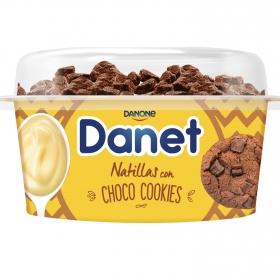 Natillas de vainilla con choco cookies Danone Danet 124 g.