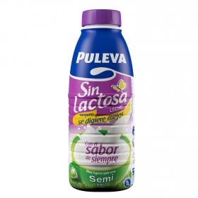 Leche semidesnatada Puleva sin lactosa botella 1 l.