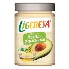 Salsa con aceite de aguacate Ligeresa tarro 280 ml.