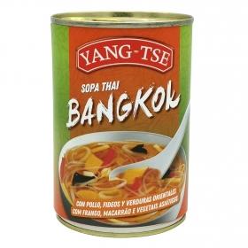 Sopa bangkok con fideos, pollo, verudras Yang Tse 400 ml.