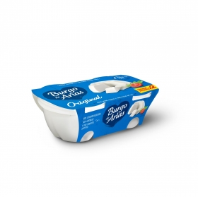 Queso fresco natural Burgo de Arias pack de 2 unidades de 230 g.