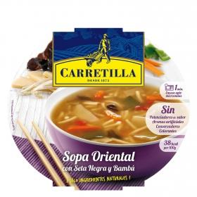 Sopa oriental de setas negras y bambú Carretilla 350 g.