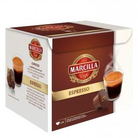 Café espresso en cápsulas Marcilla compatible con Dolce Gusto 14 unidades de 6 g.